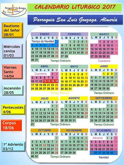 Calendario Religioso 2017 Parroquia De San Luis Gonzaga Almer 237 A Calendario