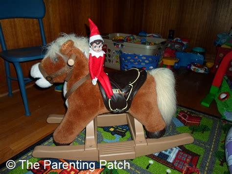 elf   rocking horse  elf   shelf day