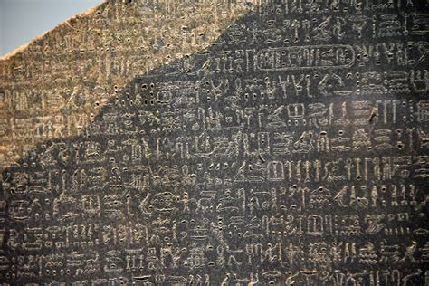rosetta stone history definition rosetta stone detail hieroglyphic text illustration