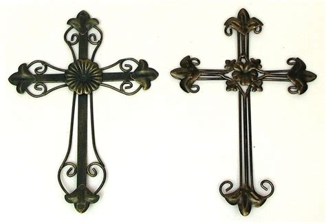 ornate metal wall spiritual home decor wall cross ebay