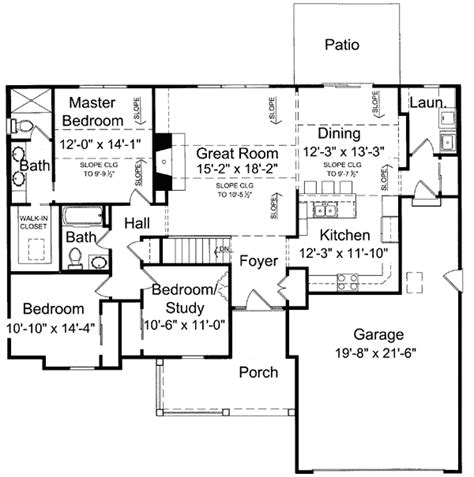 One Level Floor Plans by Beautiful 1 Level House Plans 7 One Level House Plan