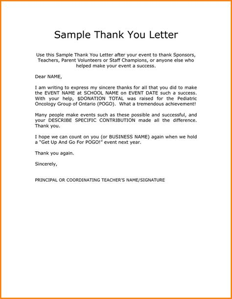 thank you letter kindness sle image result for thank you letter to teachers from
