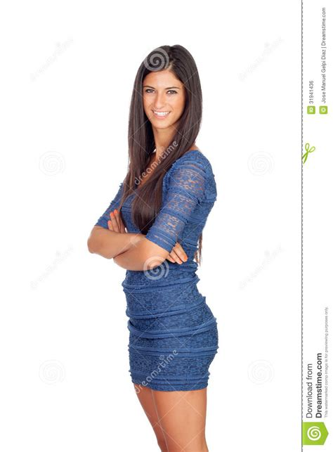 who is the brunette in the blue dress in the viagra add attractive brunette girl with blue dress royalty free