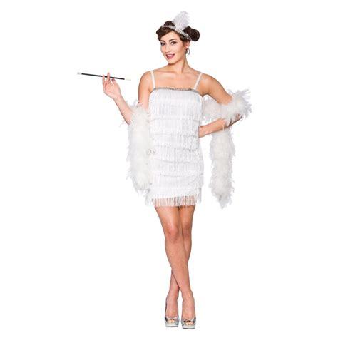 diy flapper girl costume 1920s great gatsby dresses ladies white flapper 1920s great gatsby full fringe