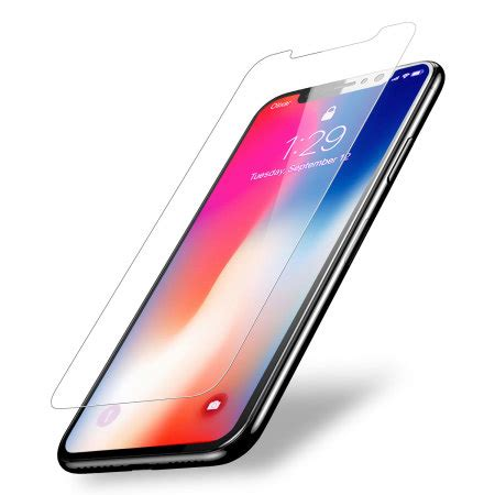 Temper Glass Iphone X olixar iphone x compatible tempered glass screen protector