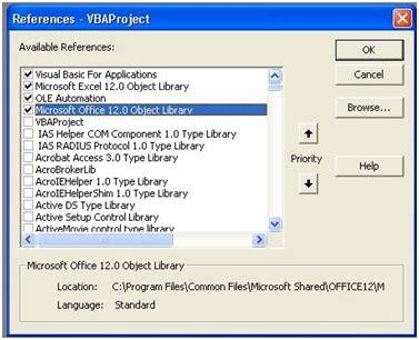 tutorial excel 2013 macros reference libraries