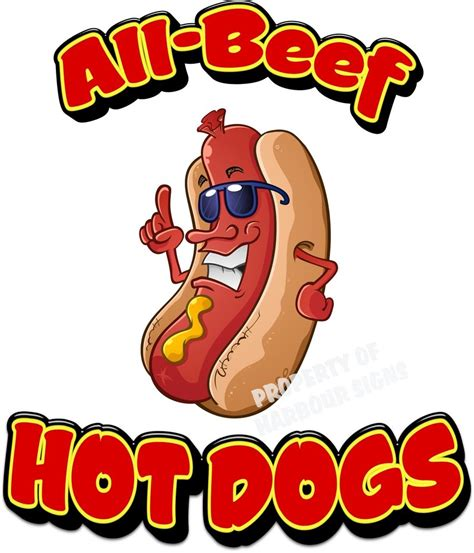 all beef dogs all beef dogs hotdogs restaurant cart concession food truck decal 14 quot ebay