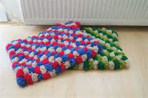 pom pom bath mat bathroom rug doormat pet mat pom pom rug