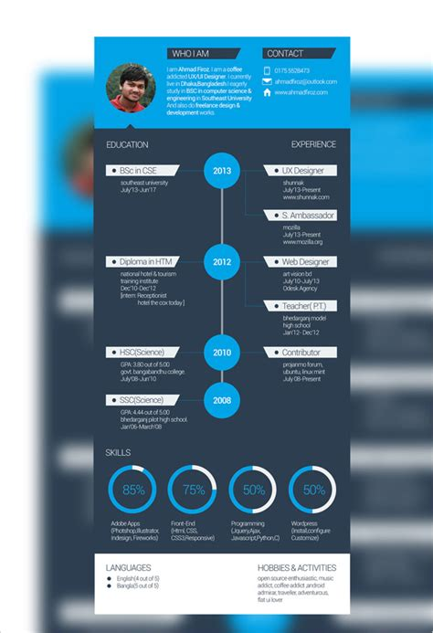 Resume Templates Flat Design 50 Beautiful Free Resume Cv Templates In Ai Indesign
