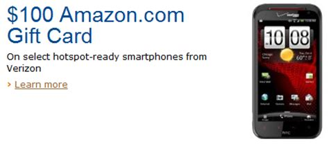 Sprint Gift Card - amazon offering 100 gift cards for users purchasing select hotspot devices from