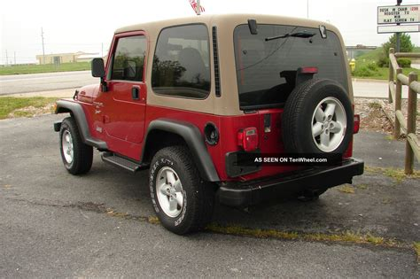 1999 Jeep Wrangler 1999 Jeep Wrangler Sport 6 Cyl 4 0liter 5 Speed Manual