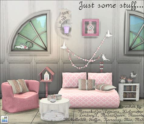 my sims 4 living and decor recolors by loveratsims4