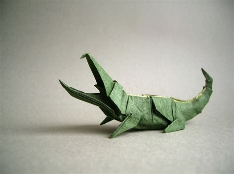 Origami Alligator - iguana fold these 28 awesome origami lizards