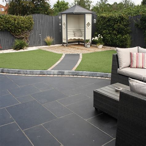 Black Limestone Patio Slabs by Paving Classicstone Carbon Black Kadapha Paving