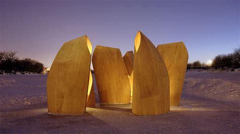 Landscape Timbers Winnipeg Winnipeg Skating Shelters Patkau Architects Archdaily