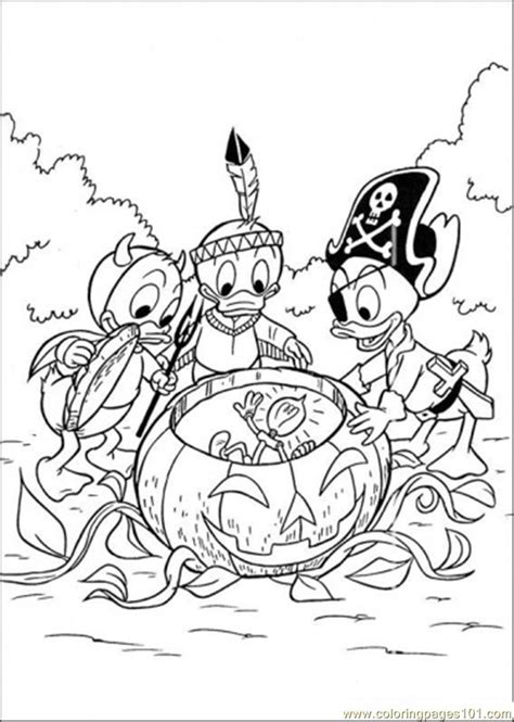 coloring pages halloween cartoons gt donald duck free