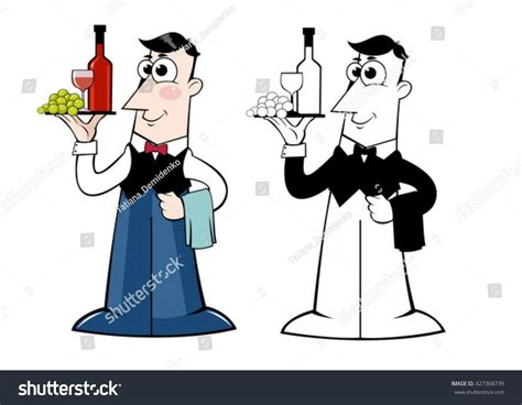 chagne cartoon waiter pictures clip art the best clip art 2017