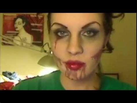 tutorial makeup zombie girl zombie make up tutorial dead sexy pin up youtube