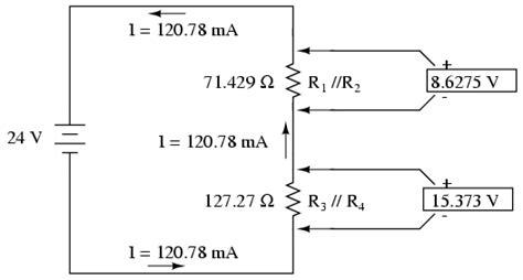current split through parallel resistors analysis technique series parallel combination circuits electronics textbook