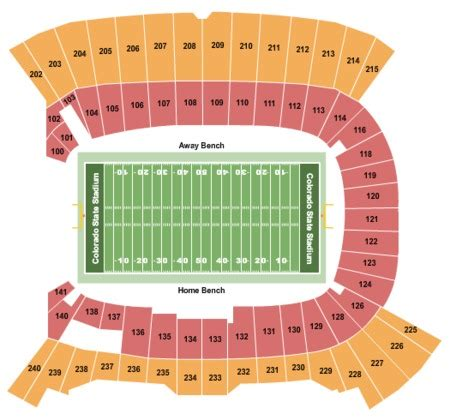 colorado state rams football tickets of colorado football stadium seating chart