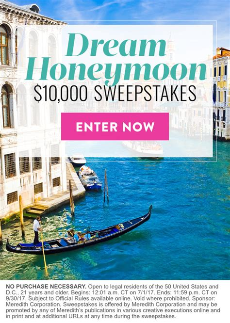 Martha Stewart Wedding Sweepstakes - dream honeymoon 10 000 sweepstakes martha stewart weddings