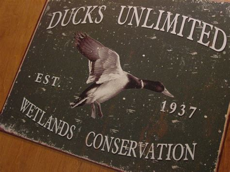 ducks unlimited home decor rustic lodge green ducks unlimited wetlands conservation mallard decor sign new ebay
