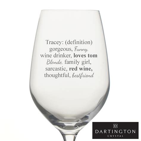 Definition Riesling by Definition Of Name Wine Glass Personalised With 15 Words