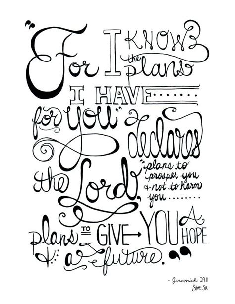 Coloring Page Jeremiah 29 11 by Jeremiah 29 11 Quotes Quotesgram