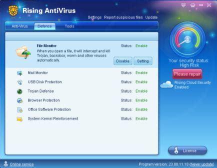 antivirus full version lifetime download rising antivirus 2011 free edition or 6 months