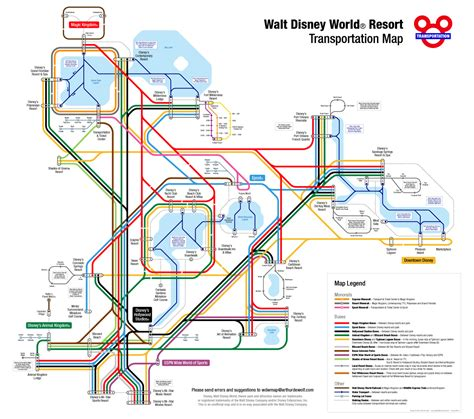 disney monorail map transit maps