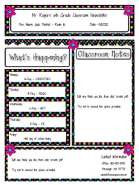 Amazing Newsletter Templates preschool newsletter template