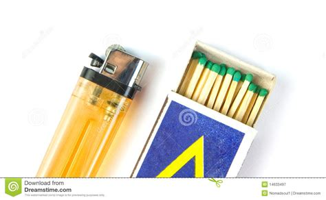 Stock United Healthcare Cigarette Lighter And Matchbox Royalty Free Stock