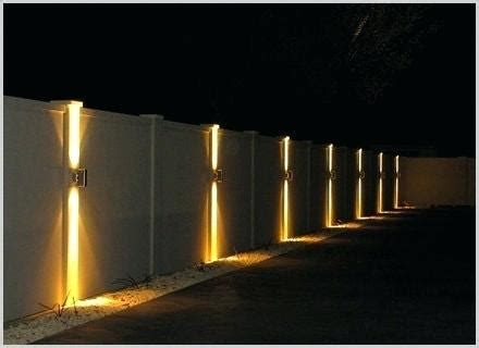 fence lighting solar lighting ideas