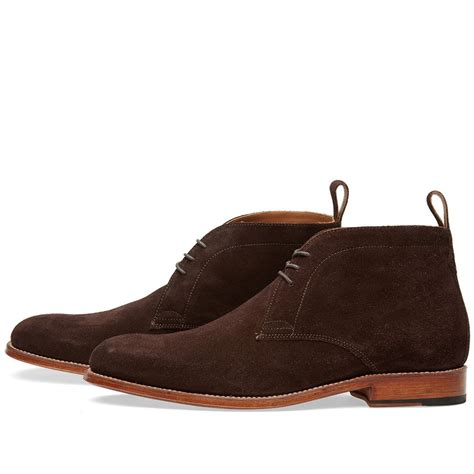 handmade mens chukka suede boots suede ankle boot