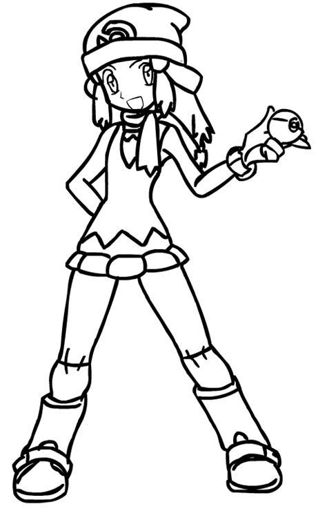 Pokemon Trainer Coloring Pages | trainer n free colouring pages