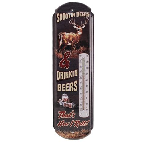 rivers edge products 1339 tin thermometer shootin deers