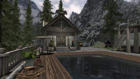 Hearthfire Houses by Noxides Lakeview Exterior Hearthfire At Skyrim Nexus