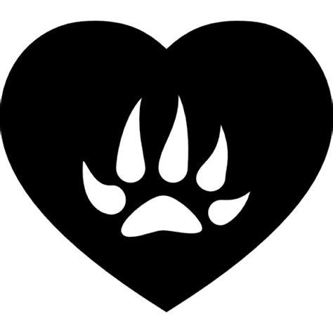 imagenes corazon en negro huella oso fotos y vectores gratis