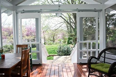 Installing A Sliding Screen Door by Open Sliding Screen Deck Doors For The Front Porch