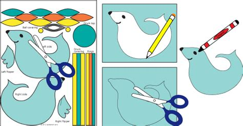 How To Make A Seal Out Of Paper - how to make circus seals 3d paper crafts s