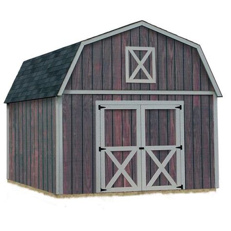 gambrel barn kits 12 ft x 20 ft outdoor wood storage tool shed gambrel barn