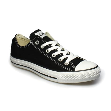converse all black canvas trainers sneakers shoes