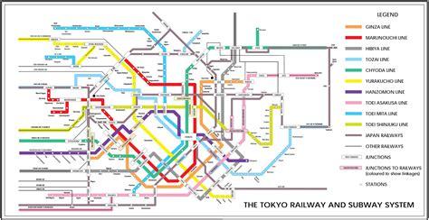 tokyo metro map tokyo plan