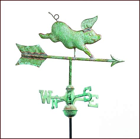 Pig Decor For Home Garden Weathervanes Small Amp Miniature Weathervanes