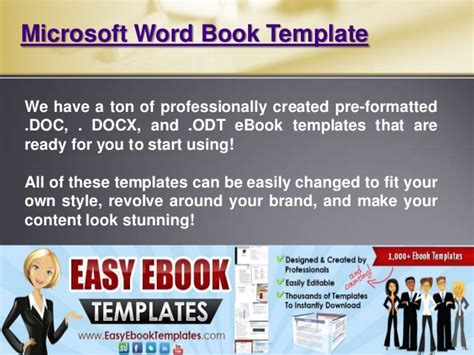 Microsoft Word Book Template Ebook Template For Docs