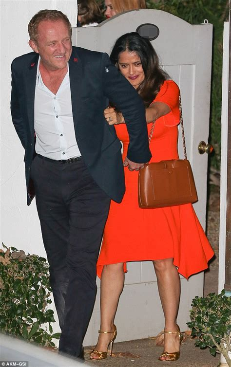 Salma Hayek Is Engaged And Knocked Up by Salma Hayek And Husband Francois Henri Pinault Put On A