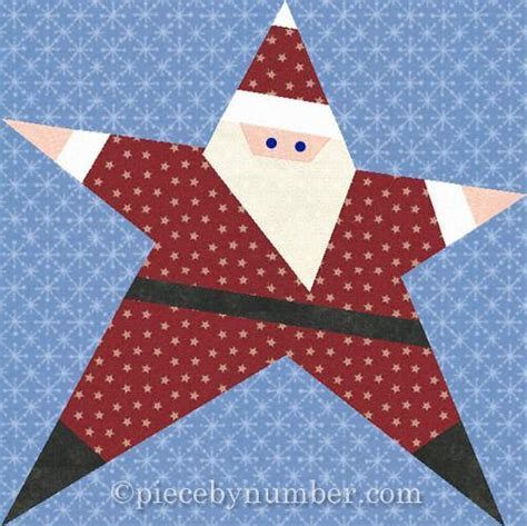 santa paper pieced quilt block by piecebynumber craftsy