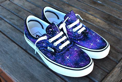 sneakers custom custom galaxy vans era shoes by bstreetshoes on etsy