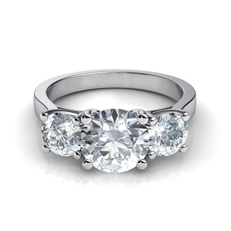 three trellis engagement ring
