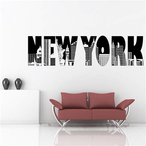 new york sticker home decor cutzz